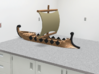 1/500 Trireme 3d printed It's a waterline model, so why is it sitting on a lab bench?  I'm cheeky, that's why.