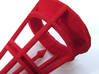 Rolling Bell Die20 3d printed In Red Strong & Flexible Polished