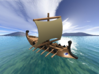 1/500 Trireme with Oars 3d printed