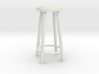 "1:24 30"" Simple Stool 3d printed"