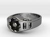 US14 Ring XIX: Tritium (Silver) 3d printed