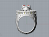 Shining Star Ring _ Size 12 (21.49 mm) 3d printed