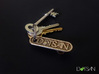 Personalized Bottle Opener Keychain 3d printed