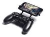 PS4 controller & Plum Trigger Plus 3d printed Front View - A Samsung Galaxy S3 and a black PS4 controller