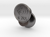 Personalized Lion Cufflinks - Personalized Initial 3d printed