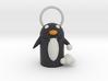 Snow Fight Penguin  Pendant  3d printed