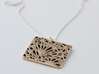 Boxed Floral - Pendant Necklace 3d printed Stainless Steel / Get Bli