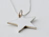 Flat star necklace pendant 3d printed Get Bli / Star Silver