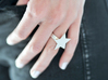 Silver Star Ring (large star) size 6 3d printed Big star / Get Bli