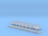 HO Woodruff sleeping car roof detail set 3d printed