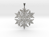Wilson Bentley Snowflake Crystal Pendant 3d printed