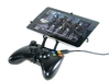 Xbox 360 controller & BlackBerry PlayBook 2012 3d printed Front View - A Nexus 7 and a black Xbox 360 controller