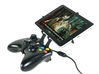 Xbox 360 controller & Apple iPad mini Wi-Fi + Cell 3d printed Side View - A Nexus 7 and a black Xbox 360 controller