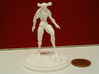 The Stalking Horror 3d printed White Strong & Flexible front compared to a 2p coin.