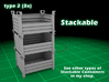 Stackable Container Type2 (3x) 3d printed