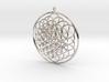 Flower Of Life Pendant - w Loopet - 6cm 3d printed