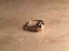 Diamond Ring US Size 8 5/8 UK Size R 3d printed Gold Plated Brass