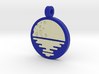 'Moonrise' Jewelry Pendant in Sandstone 3d printed