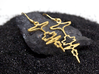 "German ""I Love You"" Sound Wave Earrings 3d printed ""Ich liebe dich"" in Polished Brass"