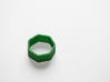 Poly7 Ring 3d printed Poly7 Ring in Green Strong & Flexible