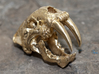 Sabertooth Tiger with necklace loophole 3d printed Raw Brass