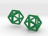 Icosahedron earrings 3d printed