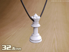 PENDANT : CHESS QUEEN (small - 32.6mm) 3d printed