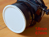 Double threaded lens cap: 67 and 58 mm 3d printed