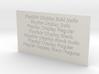 Font Samples - Playfair Display 3d printed