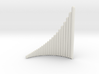 Left-handed Jazz Ballad wholetone Panpipe 4 octave 3d printed