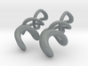 Tumbling loops earrings 3d printed