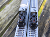 DSB F class N scale (with no tender extension) 3d printed This model is the one to the left
