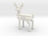 Big 8bit reindeer with rounded corners 3d printed