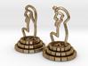 Chess set of Egypt(Q,K) 3d printed