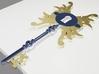 Steampunk Key  3d printed Early version, inspiration for colour
