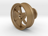 TE37 Wheel Cufflink 3d printed