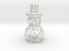 Snowman Christmas decoration Ornament 3d printed