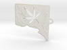 Washington DC w/pot leaf key fob 2 3d printed