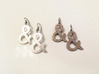 Ampersand earrings 3d printed