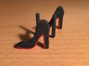Red Sole Heel Cufflinks 3d printed Shoes are mirrored to have a left foot & a right foot