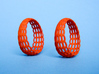 Wired Beauty 5 Hoop Earrings 30mm 3d printed Earrings printed in Orange Strong & Flexible -material.