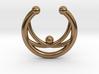 Faux Septum Ring - crisscross 3d printed