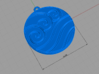 Water Clan Emblem 3d printed Model detail (front)