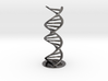 DNA double helix schematic with stand (metal) 3d printed