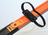 Velcro Hot Wheels Track Anywhere 3d printed Connect two tracks, or support track anywhere.