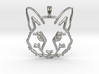 FOX TOTEM Designer Symbol Jewelry Pendant 3d printed