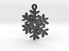 Snowflake Pendant Necklace 3d printed