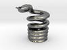 Snake Cigarette Stubber 3d printed Snake Cigarette Stubber in premium silver