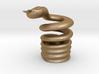 Snake Cigarette Stubber 3d printed Snake Cigarette Stubber in matte gold steel