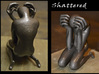 """Shattered"" Statue 3d printed 1st Print - Personal 3D printer using ABS 1st attempt at polishing & spray painted (front & back view)"